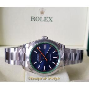 dcabbacdb16 Relógio Eta- Novo Milgauss Dial Azul Aço 904l Sh3131 - Arf