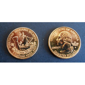 Estados Unidos Moneda 1/4 Dólar Año 2009 Bañado En Oro 24 K