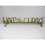 Adorno Metal Decorativo Happy Holidays Bota Navidad G711