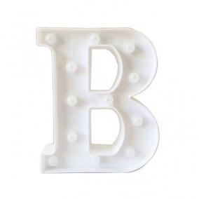 Luminaria Decorativa Letra Luminosa Led 3d B