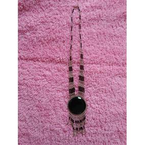 Collar Obsidiana Negra Diseño Mexicano (oaxaca)