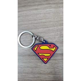 Chaveiro De Borracha Logo Superman