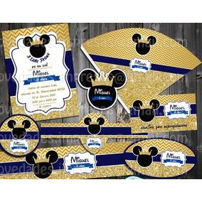 Kit Imprimible Mickey Etiquetas Fiesta Bolo Piñata Dulces