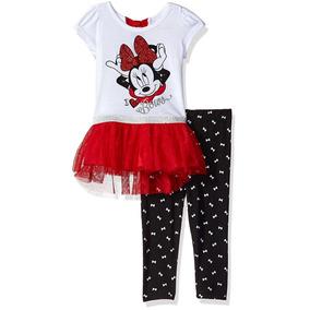Pantalon Legging Camisetapara Niña Minnie Mouse Disney