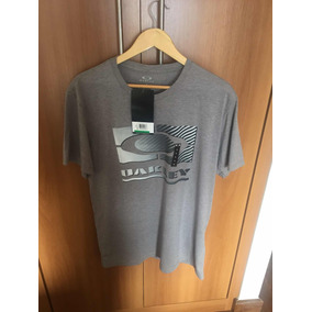 Camiseta Masculina Cinza Oakley Original 6cc82073b97