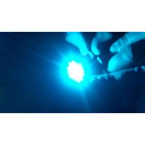 Led 3w Dissipador Estrela Ciano Azul Gelo - Frete 10,00