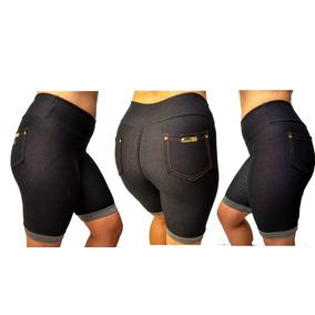 Kit3 Bermudas Roupa Feminina Leg Fake Imita Jeans!!