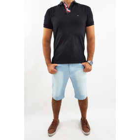 Bermuda Plus Size Masculina Slim Com Lycra Do 36 Ao 58