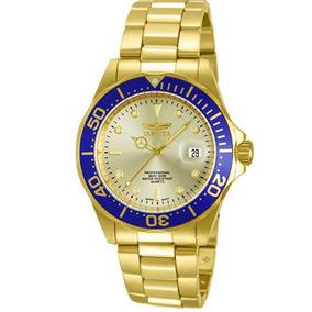 Relógio Masculino 14124pro Diver, Mostrador Dourado, Feito