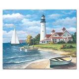 Counterart Lighthouse Mural Glass Cutting Board 15 X 12