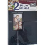 2 Albums Fotograficos 300 Fotos C/uno Negro Nuevo Envio Grat