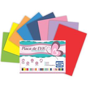Placa Em Eva A4 21cm X 29cm X 2 Mm Com 10 Placas Coloridas