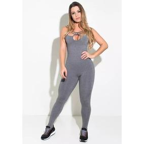 Macacão Fitness Feminino Mescla - Calçados 4463cc2c63420