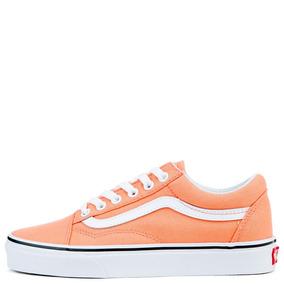 Tenis Vans Old Skool Peach Pink True Wite 23-25.5 Originales