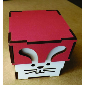Lembrancinha Pascoa Caixa Mdf Colorido 5,5x5,5x4 - 10 Und