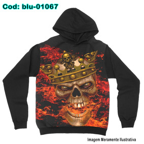 Blusa De Frio Moletom King Skull In Flames-blu1067 5a710b41df5