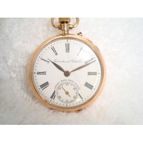 62bbd1e03f8 Relogio De Bolso International Ouro - Relógios no Mercado Livre Brasil