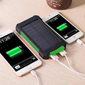Bateria Cargador Solar 8000mah Dual Power Bank Celulares Led