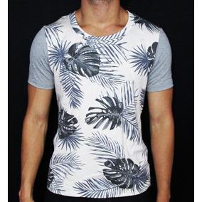 Camisetas Masculinas Estampada Folhagem