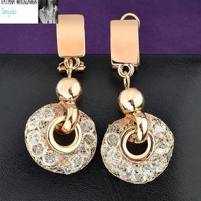Brinco Cristal Swarovski Dourado - Joias e Relógios no Mercado Livre ... 9186f2e796