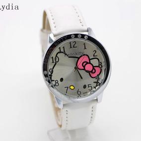 Relojes De Hello Kitty De Piel ,cristales Lindisimos