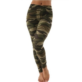 Leggings Stretch Camuflaje Hippie Rose Mujer Envío Gratis M
