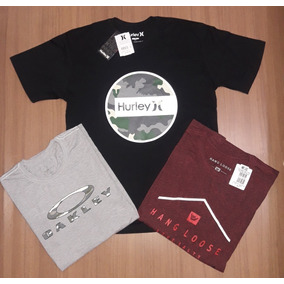 6 Camisetas Oakley Hang Loose Hurley Mcd Masculino + Brinde 0a9452feefe