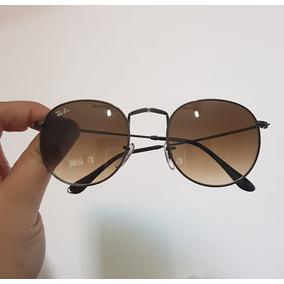 Óculos De Sol Marrom Degrade Ray Ban Round - Óculos no Mercado Livre ... bd2c41d0bb