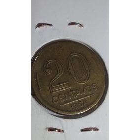 Moeda De 20 Centavos De 1954 Bronze Aluminio