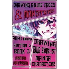 Dibujar Caras De Anime, Monstruos Y Personajes: Purple Manga