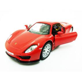 Miniatura Porsche Spyder 918 Vermelha Rmz 1:32