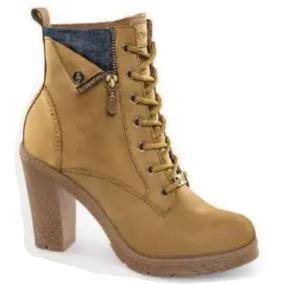 84ef60b31cb Botines De Tacon Color Camel Mujer - Zapatos en Mercado Libre México