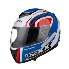 Capacete Moto Texx Like Toro Rosso Azul Vermelho