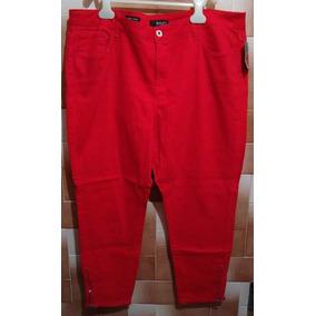 Pantalón,rojo Skinny Dama T/extra 18w. Importado 2% Spandex