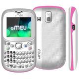 Celular Meu Sn23 Tres Chips Branco/rosa