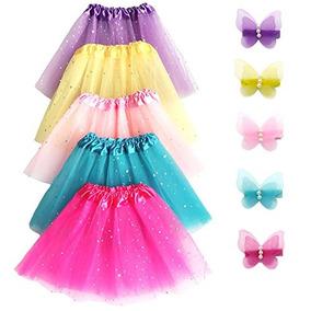 Elesa Miracle 5pc Girls Layered Sequins Ballet Tutu Skirt Co