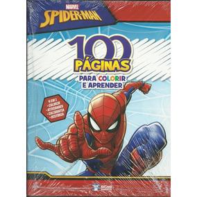 Livro Infantil Spiderman 100 Páginas Para Colorir E Aprender