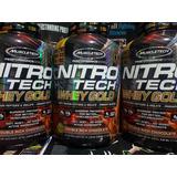 Proteina Nitrotech Whey Gold 5.5lb A Tan Solo $3298