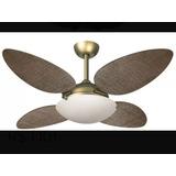 Ventilador De Teto Volare Petalo Palmae Gold 110v Ou 220v