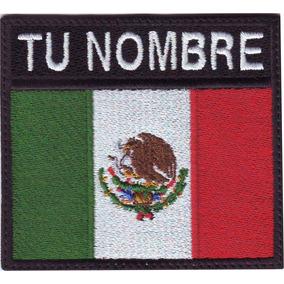 México Bandera Parche Militar V-lcro Gancho/adhesivo