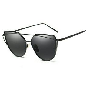 Oculos De Sol Cat Eyes olho De Gato Armação E Lente Preta · R  69 90 6bc8e6b25f