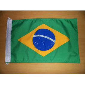 Bandeiras Do Brasil E Rio Grande Do Sul - Tam 22x33cm
