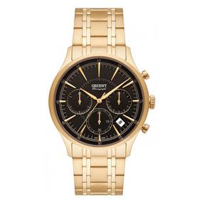 Relógio Orient Unissex Dourado Mgssc025 Cronógrafo + Frete