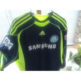 Camisa Palmeiras adidas São Marcos Nº 12 Usada Azul Escuro G