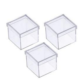 50 Caixinha De Acrílico Quadrada 4,5 X 2,5 Melhor Preço