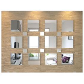 Espelhos De Vidro Decorativos, Quadrados - Kit Grande