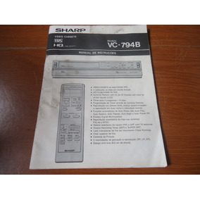 Manual Vídeo Cassete Sharp Vc 794b Envio Carta Registrada