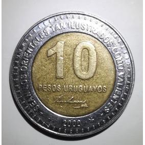 L 070; Moeda 10 Pesos Uruguaios / José Artigas - 2000.