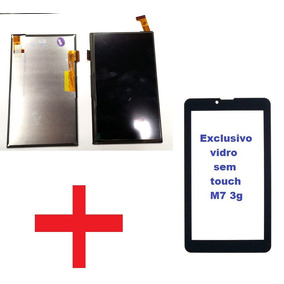 Display Lcd Touch + Vidro Tablet Multilaser M7 3g Plus
