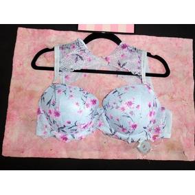 Victorias Secret L Bra Pink Cuello Alto Push Up 32ddd 34ddd